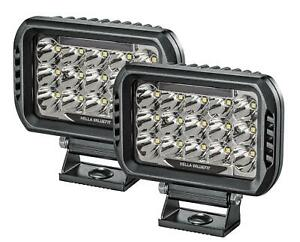 Hella 358154051 Valuefit 450 Led Rectangle Auxiliary Driving Lights 15 High powe