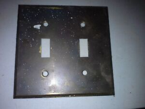 Vintage Toggle Switch Plate Cover Double Old Stock Bryant