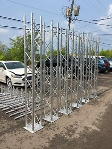 trade Show Displays Aluminum Trusses Twelve Inch Four Cord Used For Shows