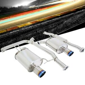 Megan Racing Oe rs Series Catback Exhaust Blue Burnt Tip For 04 08 Acura Tsx