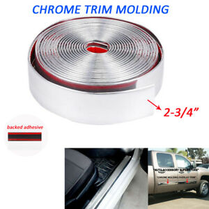 Chrome Trim Molding 2 3 4 Car Threshold Bumper Tailgate Decorate Strip 16 Feet