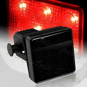 2 Smoke Lens 12 led Trailer Truck Hitch Towing Receiver Cover Brake Light Lamp