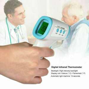Lcd Digital Non contact Infrared Ear Forehead Thermometer Ir Gun Body Adult Baby
