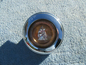 1949 1950 Plymouth Steering Wheel Chrome Horn Button Cap Mayflower