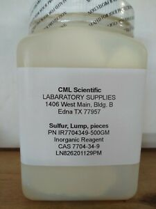 Sulfur 99 Lumps And Pieces 500g