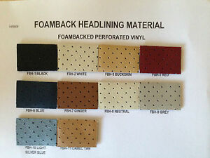 76 77 78 79 80 Chevrolet Pickup Foam Backed Perforated Vinyl Headliner Material
