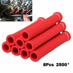 8pcs 2500 Spark Plug Wire Boots Protector Sleeve Heat Shield Cover For Ls1 ls2