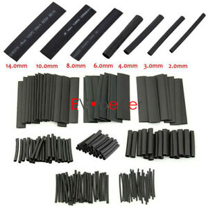 Us For 127 Pcs Black Glue Weatherproof Heat Shrink Sleeving Tube Assortment