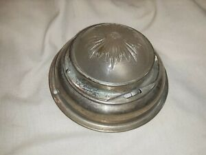 Vintage Round Dome Light Nickel Plated Brass With Glass Lens M195