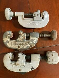 2 Ridgid Tube Pipe Cutters 10 Made In Usa 1 Made In Japan
