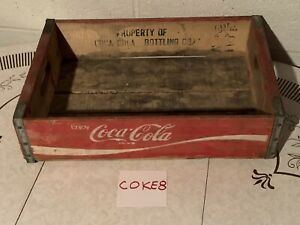 Vintage Coca-Cola Wooden Crate Red COKE8