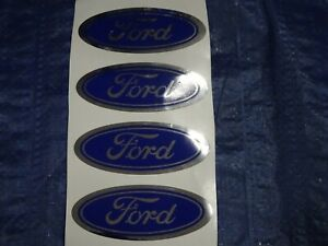 Ford Wheel Rim Center Cap Logo Decal Emblem Sticker 3 Set Of 4