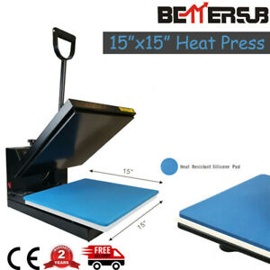15 x15in Clamshell Heat Press Machine Digital Transfer Sublimation For T shirt