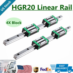 2pcs Hgr20 200mm 2000mm Linear Guide Rail 4pcs Hgh20ca Slider Block For Cnc Us