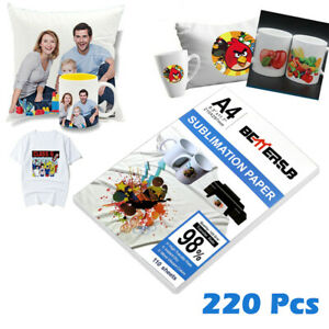 220 Sheet A4 Dye Paper Heat Sublimation Paper Polyester For Oily Ink T shirt Mug