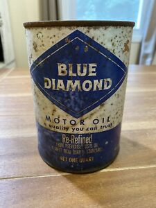 Vintage Blue diamond motor oil 1 quart can Empty Tennessee