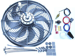 Pc473 16 Electric Curved 8 Blade Reversible Cooling Fan 3000cfm Thermostat Kit