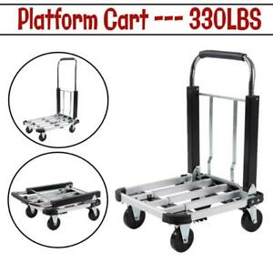 330lbs Platform Cart Dolly Folding Moving Luggage Hand Truck Trolley Heavy Duty