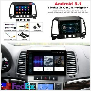 9 Stereo Radio Head Unit Gps Navigation Bt Wifi Dab For Hyundai Santa Fe 05 12