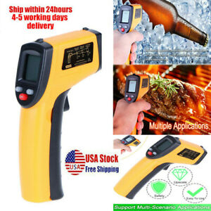 No contact Lcd Ir Laser Infrared Digital Temperature Thermometer Tool 50 380