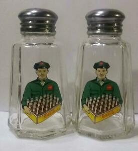 Charming Set of 2 Coca Cola Salt and Pepper Shakers # 8