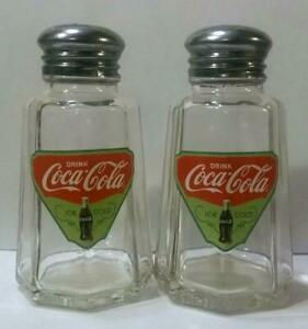 Charming Set of 2 Coca Cola Salt and Pepper Shakers # 11