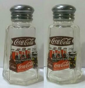 Charming Set of 2 Coca Cola Salt and Pepper Shakers # 14