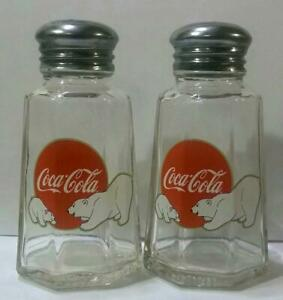 Charming Set of 2 Coca Cola Salt and Pepper Shakers # 15