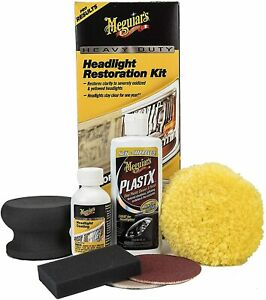 Meguiar s G2980 Heavy Duty Headlight Restoration Kit Headlight Coating 12oz