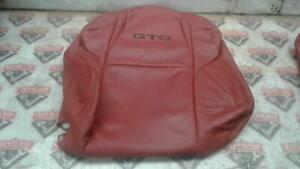 2006 Pontiac Gto Oem Left Hand Front Seat Upper Leather Cover Red