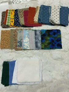 Vintage Quilt Square Charms Fabric Prints Solids 75 100 Piece 1950 S To 70s