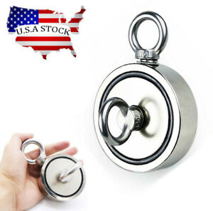 600 Lbs Fishing Magnet Kit Pull Force Heavy Duty Strong Neodymium Magnet River