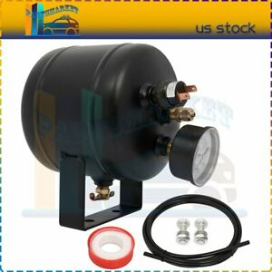 Black Air Tank Kit 0 5 Gallon 150 Psi With Air Gauge Switch For Train Truck Horn