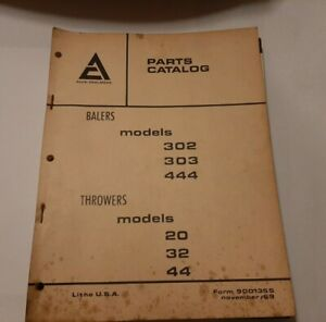 Allis Chalmers Balers Throwers Parts Catalog