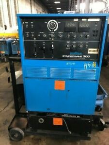 Miller 300 Amp Syncrowave 300 Ac dc Tig Stick Welder Power Source Mounted Tank