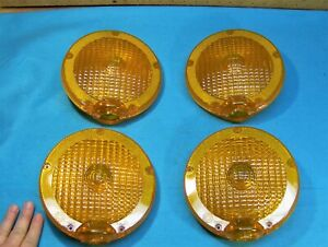 Lot 4 Signal 7503 Amber Road Barricade Safety Light Replacement 2pc Lense Lenz
