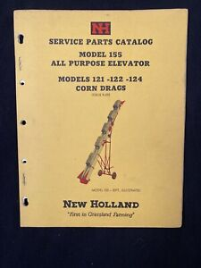 New Holland Service Parts Catalog 155 Elevator 121 124 Corn Drags 1959 1377