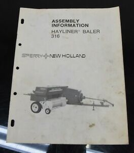 New Holland Hayliner Baler 316 Assembly Information Owner s Operator s Manual