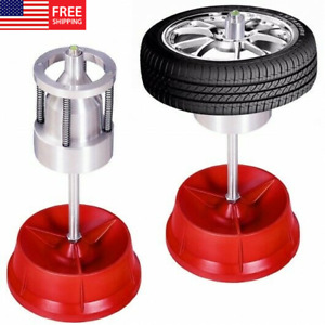 Red Heavy Duty Rim Tire Cars Truck Portable Hubs Wheel Balancer W Bubble Level