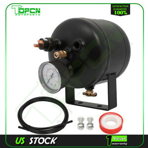 0 5 Gallon 5 Ports Air Tank Kit With Air Gauge Switch For Train truck Air Horn