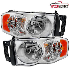 For 2002 2003 2004 2005 Dodge Ram 1500 2500 3500 Replacement Headlights L r