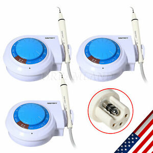 3sets Dental Ultrasonic Scaler Handpiece 5 tips Fit Woodpecker Ems Cavitron Usa