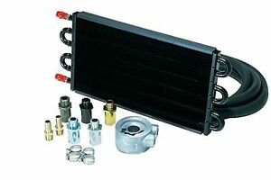 Derale 15502 Engine Oil Cooler With Sandwich Adapter Kit