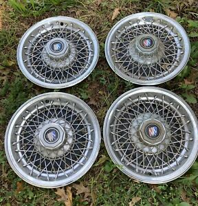 Set Of 4 Original 1980 1987 Buick Regal Century Hubcap Rim Wire Wheel Cover 14