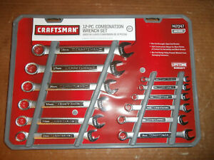 New Craftsman 12 Piece Metric Combination Wrench Set 47047