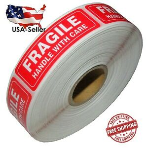 1 Roll 1000 Fragile Handle With Care Stickers Labels