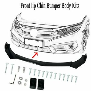 Universal Front Bumper Lip Body Kit Spoiler Wing For Honda Civi Bmw Audi Benz