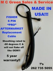 Us Made Fisher Fish Stik Snow Plow 6 Pin Straight Blade Handheld Controller Cord