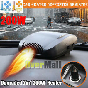 12v Car Portable Electric Heater Heating Cooling Fan Windscreen Defroster Usa