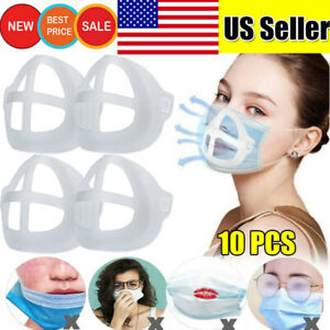 10x 3d Silicone Bracket Face Mask Inner Support Holder More Breathing Space Us